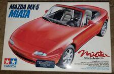 Tamiya Mazda MX-5 Miata model car kit #24082 molded in RED and Black colors