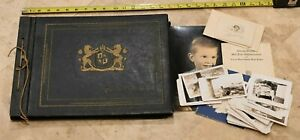 Rare Oversized 1930's Photo Album Filled with Pictures from CLEARWATER-TAMPA FL