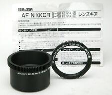 Sea & Sea Zoom & Focus Gears For Nikon AF Nikkor Lens 28-85mm F3,5-4,5S. Unused.