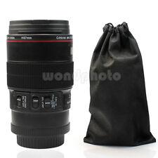 Negro 350ML 1:1 Cámara Lente EF 100mm Vaso Taza con Funda para Leche Bebidas