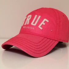 True Religion Classic Front TRUE EMB Solid Cap Hat $85 Red/Cotton New