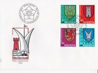 SW174) Switzerland 1981 Pro Juventute - Municipal Coat of Arms FDC.