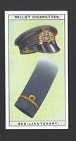 WILLS - NAVAL DRESS & BADGES - #17 SUB LIEUTENANT