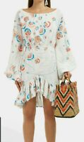 All Things Mochi Womens Sz XS Sheryn Embroidered Boho Dress Long Sleeve $422