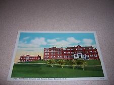 1930s BENEDICTINE HOSPITAL & NURSES HOME KINGSTON NY. LINEN POSTCARD