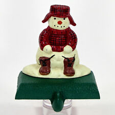 "Midwest of Cannon Falls SNOWMAN 4.5"" Cast Iron Stocking Hanger Eddie Bauer"