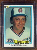Phil Niekro Baseball Card #328 Donruss First Edition Atlanta Braves MLB HOF