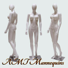 Female Sexy mannequin+ metal stand, Full body plastic, White Busty manikin-Sw2