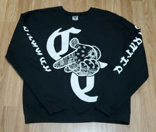 Crooks & Castles OG Logo Crew Neck Medium Black and White Sleeve Spell Out