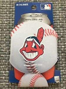 CLEVELAND INDIANS MLB BASEBALL CAN COOLER COLLAPSIBLE INSULATED BOTTLE HOLDER