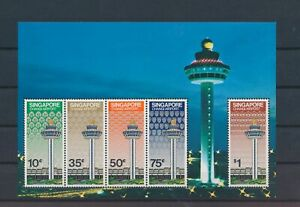 LO41347 Singapore air traffic control tower Changi airport sheet MNH