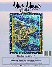 Sea Turtle, Mini Mosaic Quilt Pattern by Cheryl Lynch, DIY Quilt Pattern