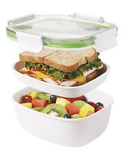 OXO Good Grips Lunchbox to go 2 Fächer Silikondichtung BPA frei und sehr Robust