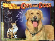 How to Draw Cats and Dogs c1999, VGC Hardcover, We Combine Shipping