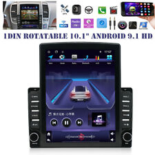 "1DIN Rotatable 10.1"" Android 9.1 HD GPS WIFI Quad-core 2GB+32GB Car Stereo Radio"