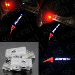 2x A-spec Logo Led Light Car Door Emblem Projector For Acura MDX ZDX RLX TL TLX