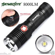 8000 LM ZOOM CREE XM-L2 U2 LED 26650 / 18650 USB Rechargeable Flashlight Torch