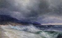 "stunning art 36x24 oil painting  handpainted on canvas ""the sea"""