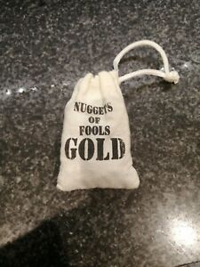 Fools Gold Nuggets Cloth Pouch Pyrite