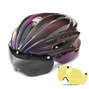 Bicycle Helmet With Visor Magnetic Goggles Road Bike Helmets Adults Protection