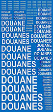 Douanes Blanc French Inch IN White White 1:24 Decal