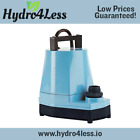 Little Giant 5 MSP 1/6 HP 1200 GPH Submersible Inline Utility Pump Hydroponic