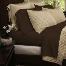 4 piece Queen Sheet Set 1800 Series Sheets - Bamboo Comfort Bedding Dark Brown