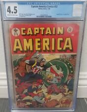 Captain America Comics 52 CGC 4.5 Schomburg Stan Lee Rare Golden Age Timely Hot