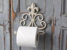 CHIC ANTIQUE porta carta igienica Fleur De Lys Giglio in metallo shabby Brocante