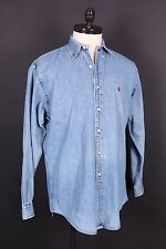 VTG RALPH LAUREN POLO DENIM BUTTON UP SHIRT MENS SIZE M
