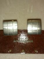 Vintage Sterling Square Lines Design Cufflinks