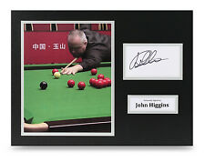 John Higgins Signed 16x12 Photo Genuine Snooker Autograph Display Memorabilia