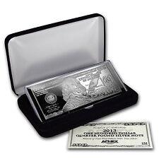 4 oz Silver Bar - Random Year $100 Bill (W/Box & COA) - SKU #96551