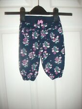 BABY GIRLS LIGHTWEIGHT DITSY PRINT  TROUSERS  AGE 6-12  MONTHS