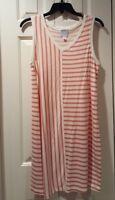 NEW Dress Barn DB Sunday French Terry Stripe Sleeveless Dress size Small