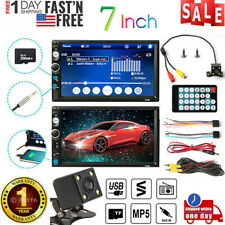 7 Inch Car Radio Stereo Double 2DIN FM USB/MP5 Player Touch Screen + Camera
