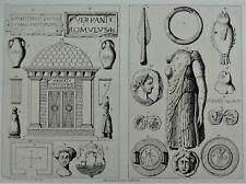 Poitou et Vendée Gravure O. de la ROCHEBRUNE Archéologie Antiquités du Langon