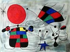 JOAN MIRO Great Authentic Mixed Media Drawing on Paper, Art Painting Signed.