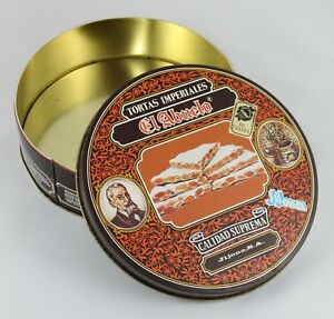 Vintage Box Of Tin Imperial Cakes the Grandfather Nougat Jijona S. A. Spain