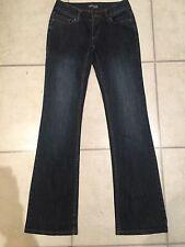 GRAB DENIM Lds Sz 7/25 low Rise Hipster Bootcut Flare Leg Dark Denim Jeans New