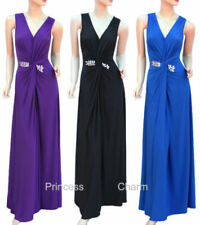Plus Size Polyester Solid Dresses for Women