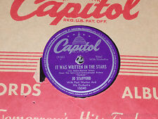 JO STAFFORD It Was Written In The Stars/ It's Monday Every Day 78 Capitol 15040