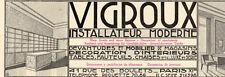 VIGROUX INSTALLATEUR DEVANTURE MAGASIN PARIS PUBLICITE PUB 1929 FRENCH AD