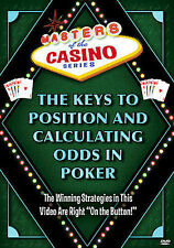 Masters of the Casino Series, Keys to Position and Calculating the Odds in Poker