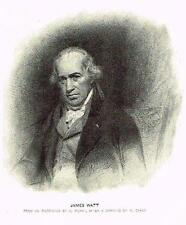 "Portrait of ""JAMES WATT"" - Engraving - c1840"