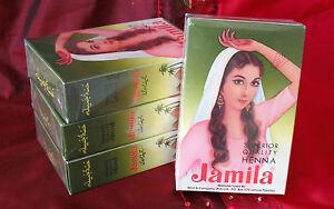 NEW 20-21Authentic Jamila Henna/Mehndi Powder (5 x100g=500g) (Body Art Quality)