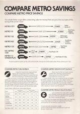 Austin Metro Competitor Pricing Comparison 1982 UK Market Leaflet Brochure