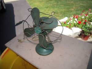"""Knapp&Monarch  6"""" Military Green vintage 1 speed for parts or restoration"""