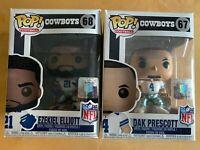 Funko Pops - NFL Ezekiel Elliott & Dak Prescott ~ Dallas Cowboys