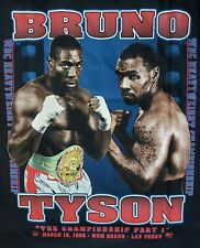 VINTAGE MGM MIKE TYSON vs. FRANK BRUNO FIGHT T-SHIRT SZ. XL , MARCH 16, 1996